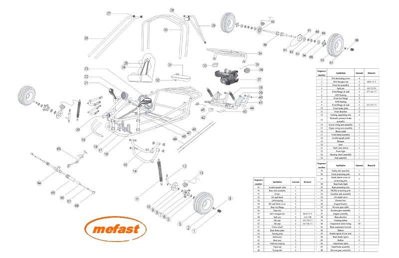 150cc Go Kart Parts KD 150GKA : GKA150Parts from elescooterparts.com size 800 x 517 jpeg 81kB