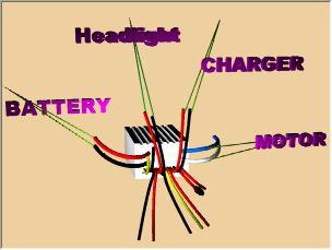 Motor/ Battery/ Pilot light