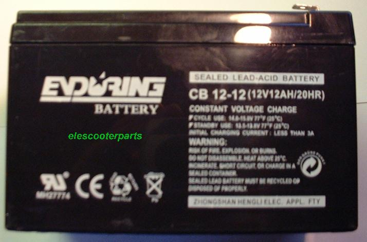 12 Volt Electric Scooter  Battery