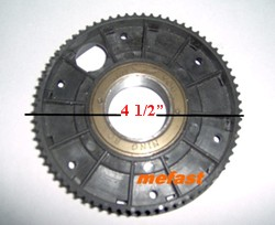 Belt drive freewheel