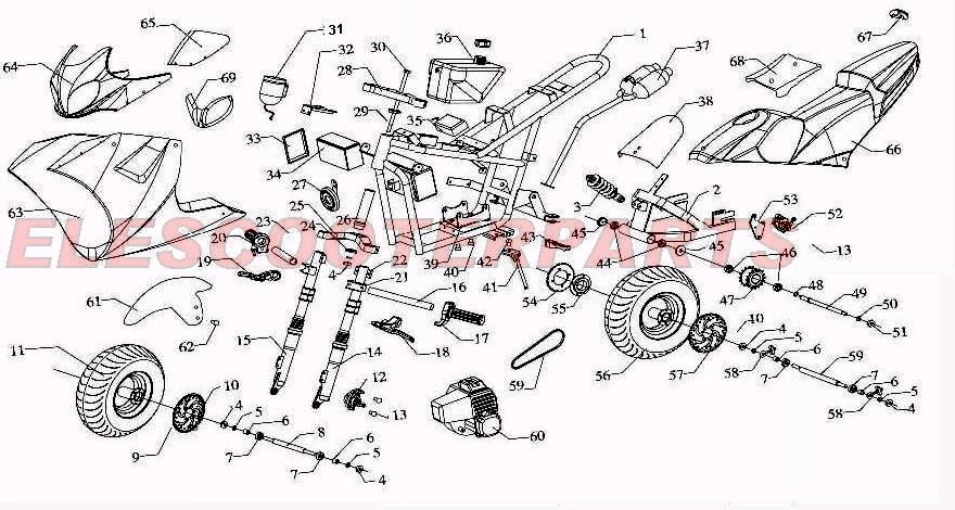 Gs 12exp 49cc parts pocket bike parts gs 12 49cc cateye pocket bike wiring diagram at n-0.co