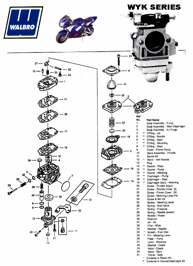 Service Schematics Gas And Electric Scooters Two Cycle