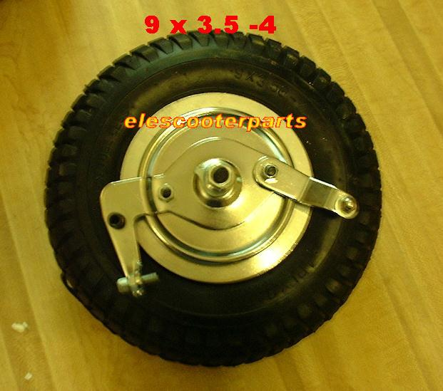 9 x 3.5 - 4 Front Wheel Assembly