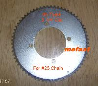 Sprocket 5 1/4 Dia 65 tooth for #25 chain